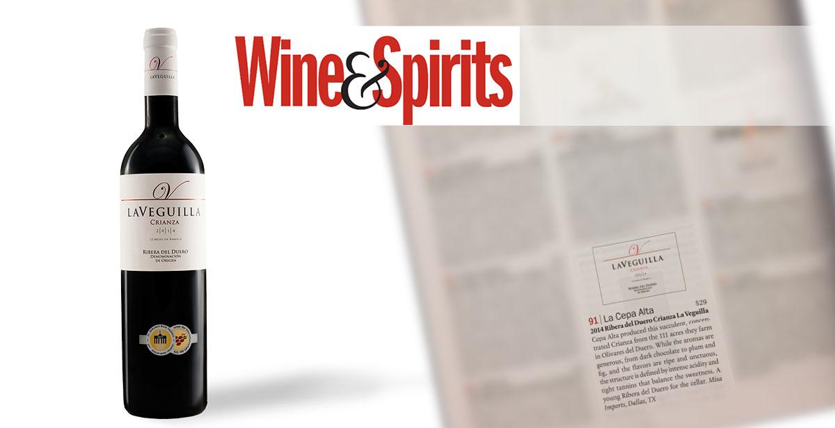 Nuestro crianza LaVeguilla, en la revista Wine & Spirits